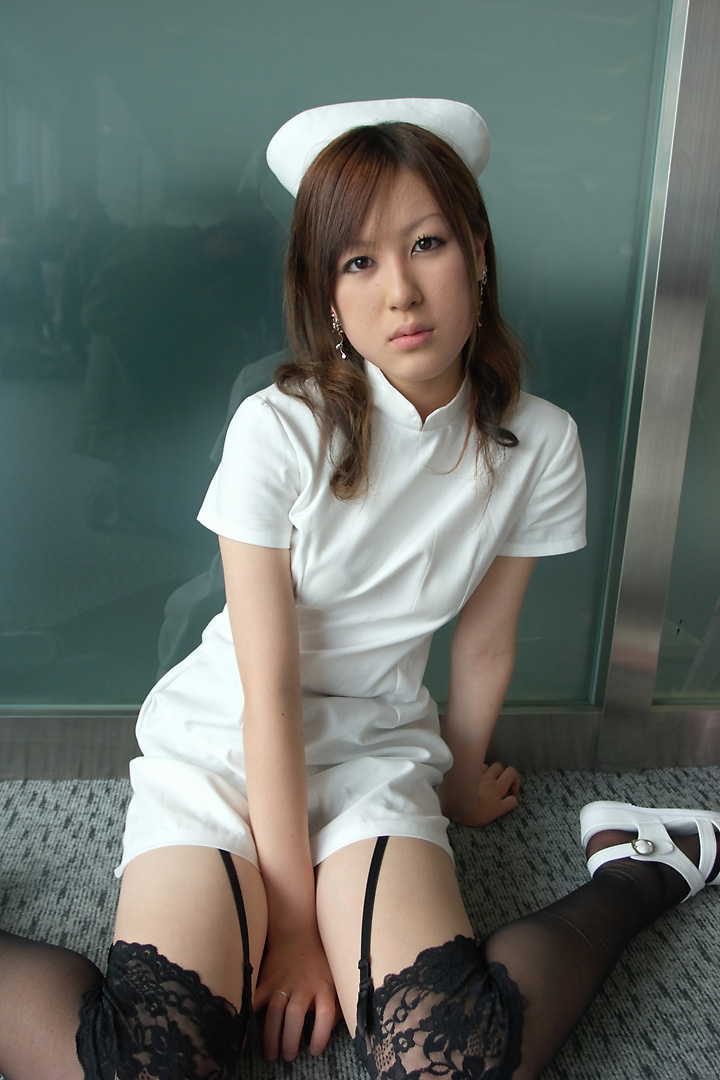 cosplay garter_belt maron nurse nurse_uniform thigh-highs
