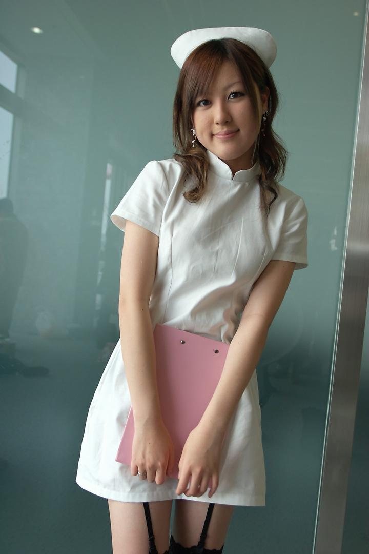 clipboard cosplay garter_belt maron nurse nurse_uniform thigh-highs