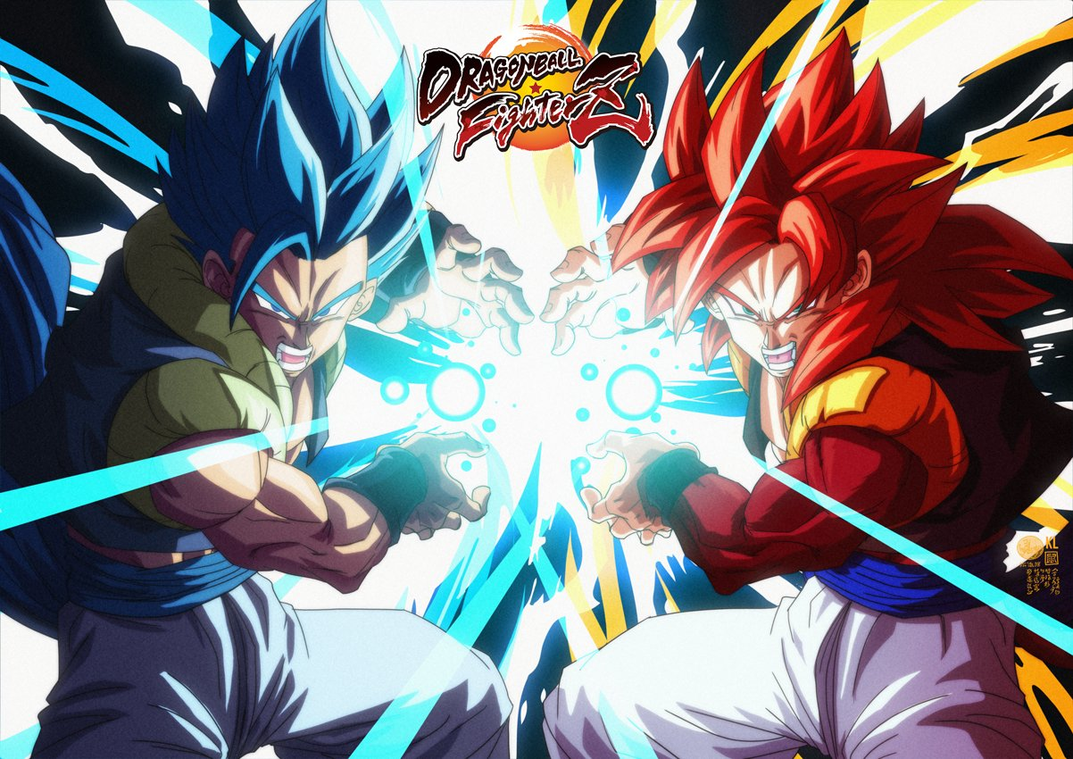 2boys aqua_eyes attack aura blue_eyes blue_hair cupping_hands dragon_ball dragon_ball_fighterz dragon_ball_gt dragon_ball_super dragon_ball_super_broly dragon_ball_z dual_persona energy_ball feet_out_of_frame fighting_stance fingernails glowing gogeta kamehameha legs_apart light_rays limandao logo looking_at_viewer male_focus medium_hair metamoran_vest multiple_boys muscular muscular_male official_style open_mouth pants red_eyes shaded_face side-by-side spiky_hair super_saiyan super_saiyan_4 super_saiyan_blue teeth time_paradox white_pants wristband