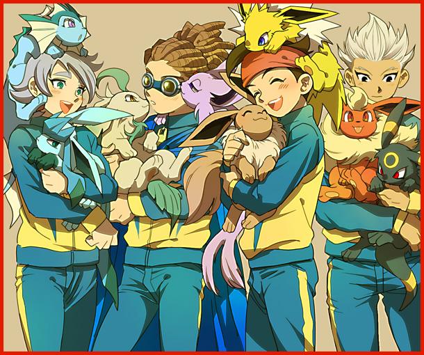 endou_mamoru fubuki_shirou gouenji_shuuya inazuma_eleven kidou_yuuto pokemon