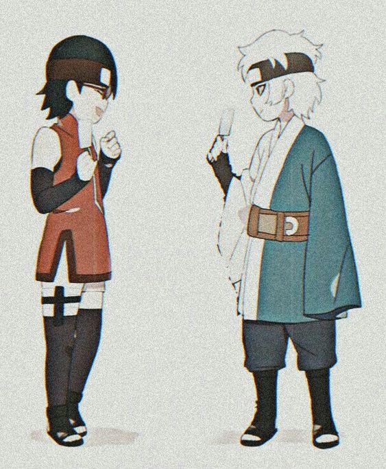 1boy 1girl black_hair boruto:_naruto_next_generations female male mitsuki_(naruto) naruto naruto_(series) uchiha_sarada