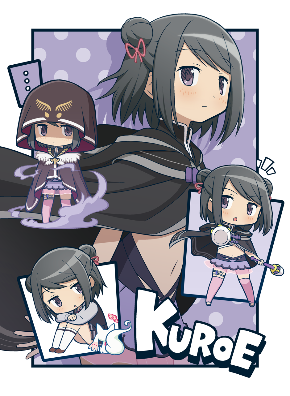 ... 1girl ^^^ arm_at_side arms_on_knees bangs black_border black_cloak black_hair black_skirt black_vest border brown_footwear character_name chibi chibi_inset cloak collared_shirt creature crossed_arms double_bun expressionless eyebrows_visible_through_hair fingernails flat_chest fur-trimmed_cloak fur_trim gecchu grey_shirt hair_ribbon head_tilt high_collar highres holding holding_weapon hood hood_down hood_up jewelry jitome knees_up kuroe_(magia_record) kyubey leaning_forward light_blush long_sleeves magia_record:_mahou_shoujo_madoka_magica_gaiden mahou_shoujo_madoka_magica medium_hair midriff multiple_views navel no_nose official_style outstretched_arm parted_lips pendant pink_lips pleated_skirt polearm polka_dot polka_dot_background purple_background purple_skirt purple_theme redhead ribbon school_uniform see-through see-through_skirt serious shade shadow shiny shiny_hair shirt shoes sidelocks sideways_glance simple_background sitting skirt smoke socks spoken_ellipsis standing swept_bangs thigh-highs thighlet two-sided_cloak two-sided_fabric two_side_up vest violet_eyes weapon white_border white_legwear