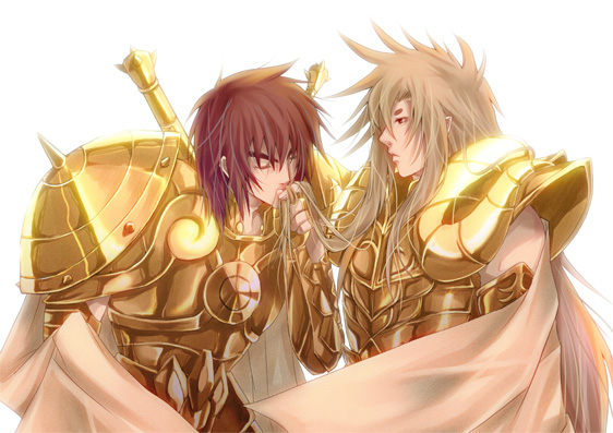aries_shion kiss libra_dohko male saint_seiya