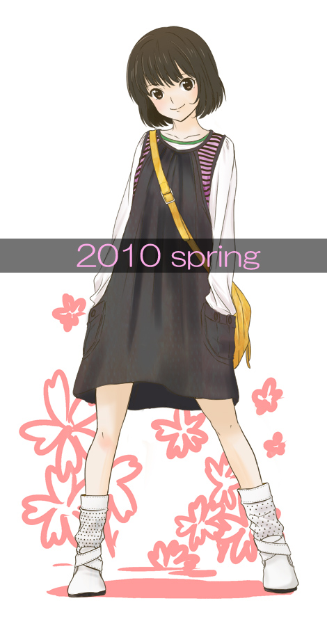 casual hand_in_pocket long_sleeves original saitoyu00 shoes short_hair socks solo striped