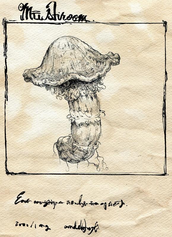 children's_book comic monochrome mushroom original silent_comic toi_(number8) traditional_media