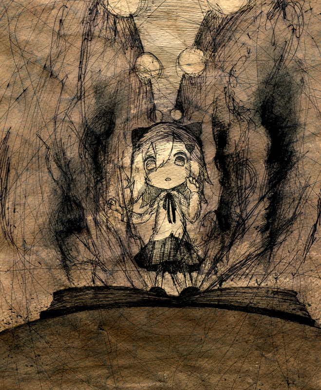 book children's_book comic monochrome original silent_comic solo toi_(number8) traditional_media