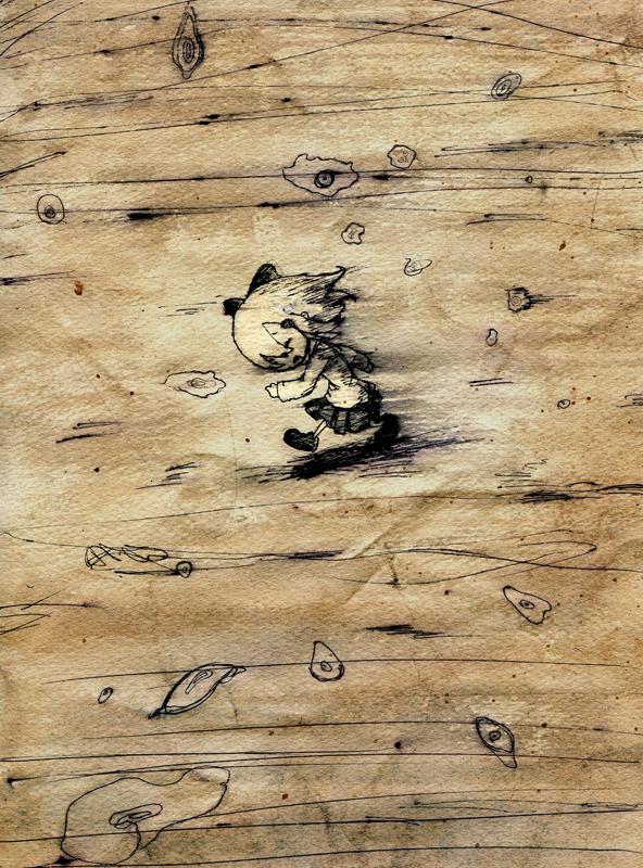children's_book comic monochrome original silent_comic solo toi_(number8) traditional_media