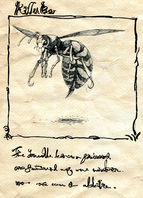 bee children's_book comic monochrome original silent_comic toi_(number8) traditional_media