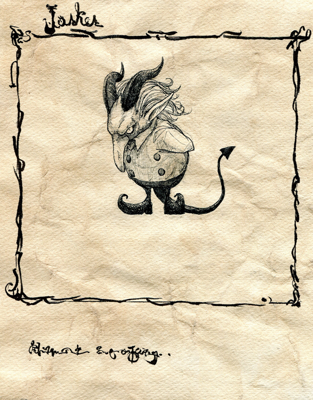 children's_book comic demon_tail horns monochrome original silent_comic tail toi_(number8) traditional_media
