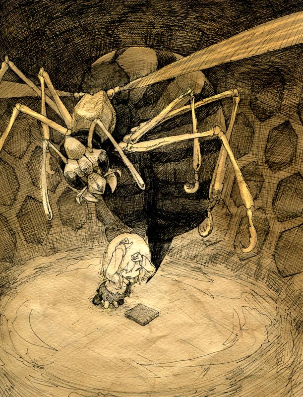 bee beehive children's_book comic monochrome original silent_comic toi_(number8) traditional_media
