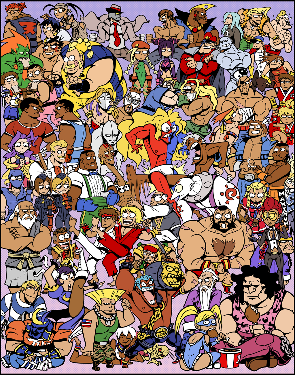 absolutely_everyone adon alex ass balrog birdie blanka blonde_hair blue_hair brown_hair cammy_white capcom_fighting_evolution captainosaka chain charlie_nash chicken_(food) chun-li cody crimson_viper dark_skin dee_jay dhalsim dudley eagle_(street_fighter) edmond_honda el_fuerte elena everyone eyepatch facial_hair fei_long food formal gai_(final_fight) geki gen_(street_fighter) genryuusai_maki gill gouken gouki groin_kick guile guy hakan han_juri hibiki_dan highres hugo_andore ibuki ingrid joe_(street_fighter) juli juni kanzuki_karin kasugano_sakura ken_masters lee lee_(street_fighter) m_bison maki_(final_fight) makoto marijuana mask mike_(street_fighter) muscle mustache necro necro_(street_fighter) pantyhose purple_hair q rainbow_mika red_eyes remy retsu rolento rose_(street_fighter) rufus_(street_fighter) ryuu_(street_fighter) sagat scar school_uniform sean_matsuda serafuku seth_(street_fighter) sodom street_fighter street_fighter_ii street_fighter_iii street_fighter_iv street_fighter_zero street_fighter_zero_ii street_fighter_zero_iii suit thunder_hawk twelve twintails urien vega yang_lee yun_lee zangief