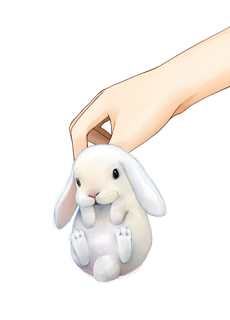 bunny hands lilac_(artist) original rabbit simple_background