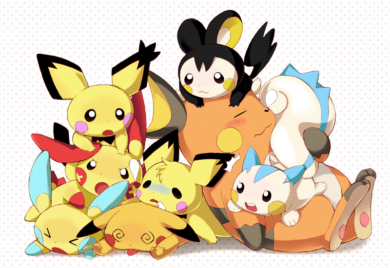 Sparks Fly   The Electric  Pachirisu And Emolga
