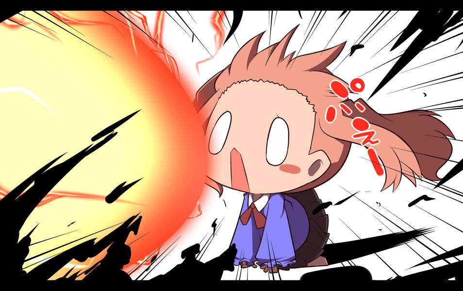 blush_stickers chibi explosion nijiirosekai o_o open_mouth original satsuki_mei_(sakuramochi) shockwave solo |_|