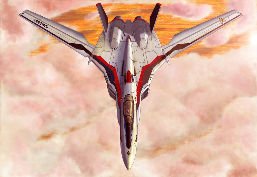 airplane canopy clouds cockpit flying galia_iv helmet i.t.o_daynamics jet macross macross_frontier mecha pilot_suit ranka_lee realistic s.m.s. saotome_alto science_fiction spacesuit spoilers vf-25