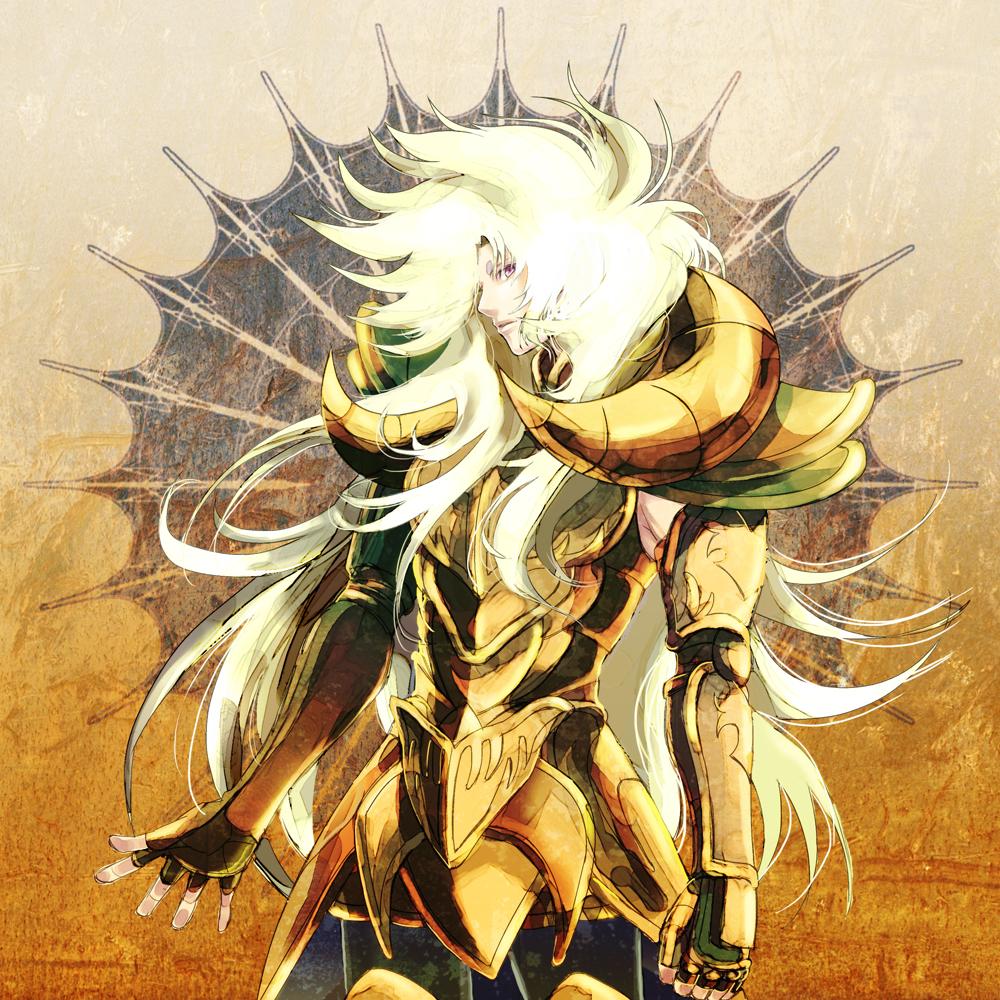 aries_shion armor blonde_hair full_armor ichi_(ringogogo777) long_hair male purple_eyes saint_seiya saint_seiya:_the_lost_canvas solo violet_eyes