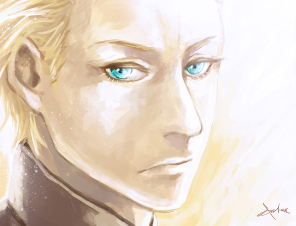 1boy blonde_hair blue_eyes close-up community666 face fate/zero fate_(series) kayneth_archibald_el-melloi solo