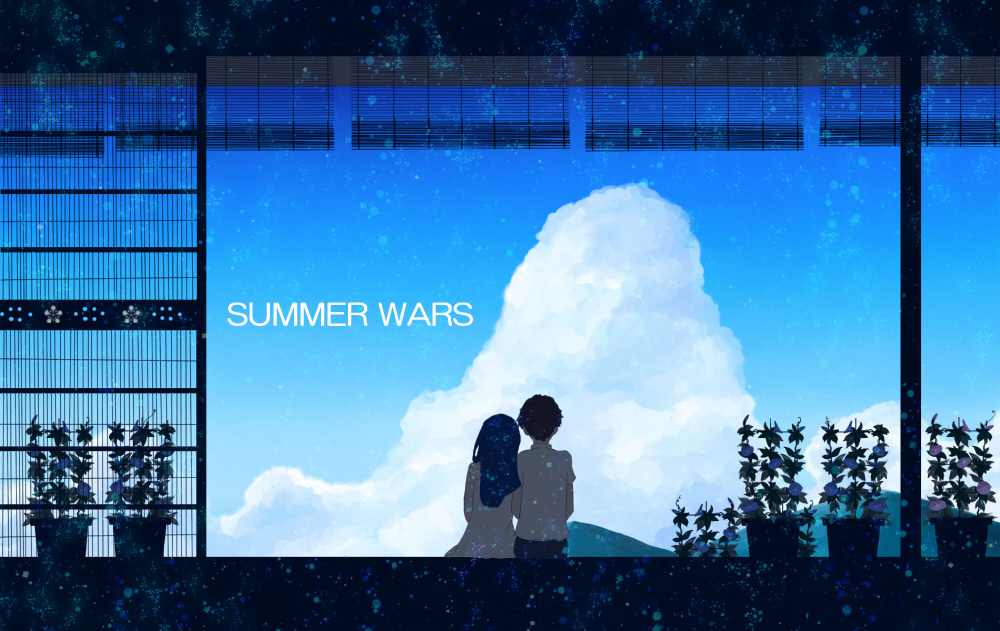clouds incle_s plant potted_plant sky summer summer_wars