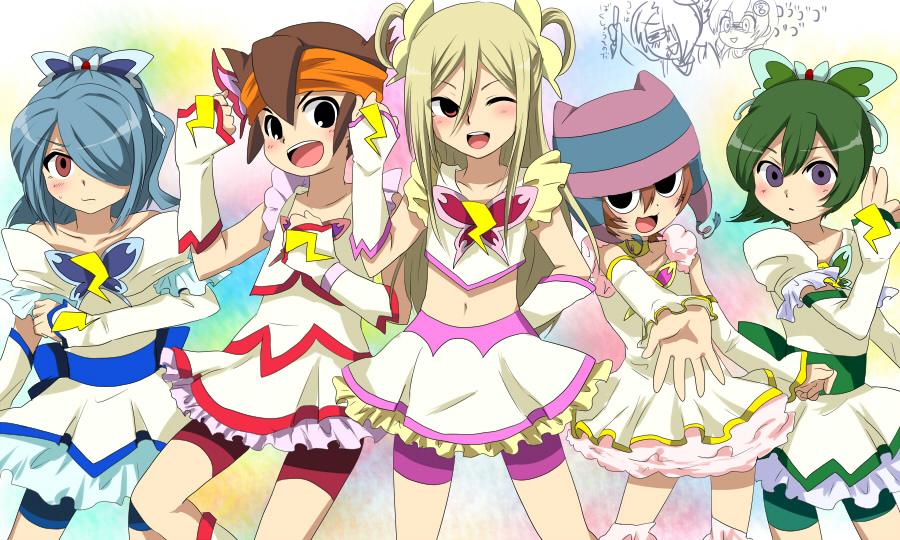 afuro_terumi aphrodi cosplay crossdress endou_mamoru hatsutori_hanzou inazuma_eleven kazemaru_ichirouta shota trap