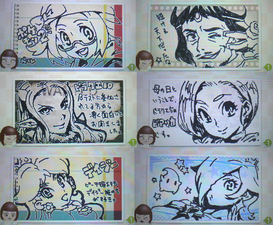 :o ^_^ bel_(pokemon) bianca braid brown_hair character_request closed_eyes crossover crown dragon_quest dragon_quest_v earrings eyes_closed gem glasses hair_over_one_eye hat jewelry kei_(bekei) looking_at_viewer luma mii_(nintendo) monochrome nintendo open_mouth pointy_ears pokemon pokemon_(game) pokemon_bw2 princess princess_daisy rosalina_(mario) short_hair sketch smile star super_mario super_mario_bros. super_mario_galaxy swapnote swapnote_(medium) translation_request v v_over_eye wink