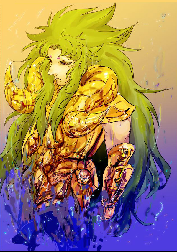 1boy aries_shion armor green_hair saint_seiya:_the_lost_canvas solo