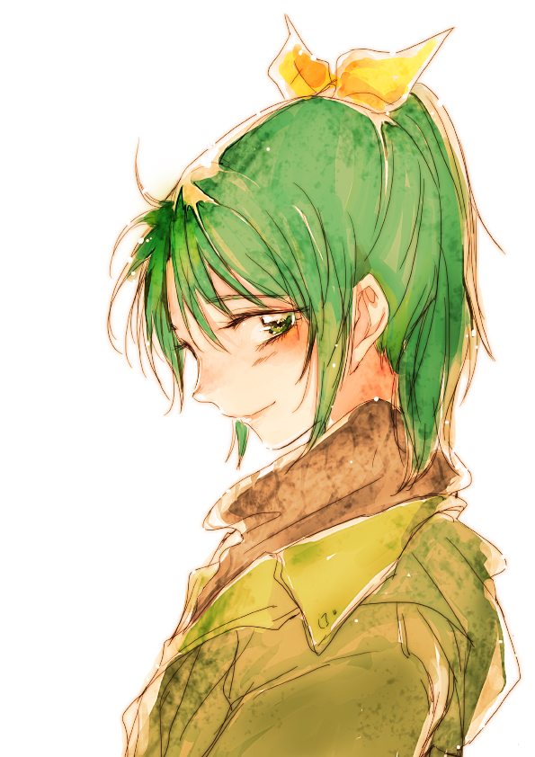 green_eyes green_hair midorikawa_nao ponytail precure short_hair simple_background smile_precure! solo tima white_background