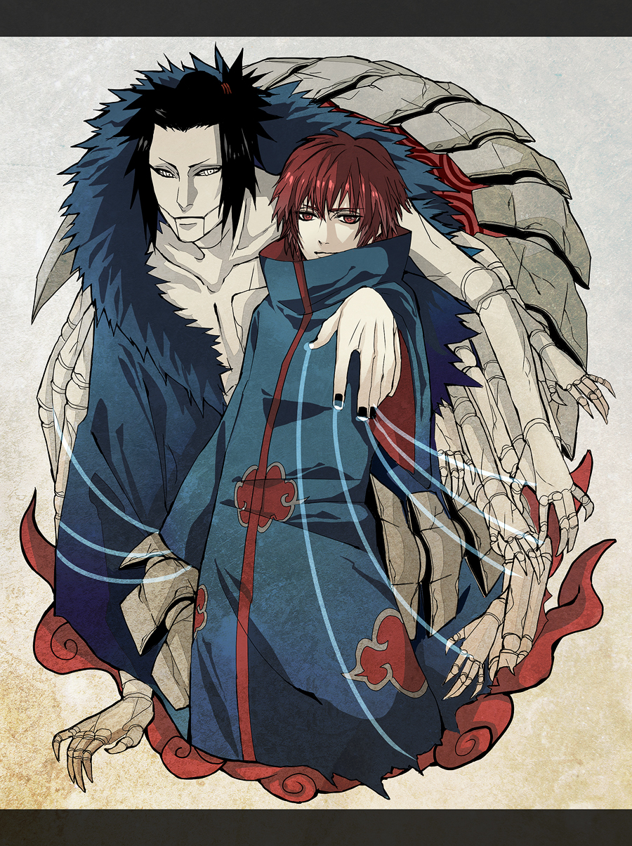 sasori and his father puppet xpost from r newanime fanart naruto