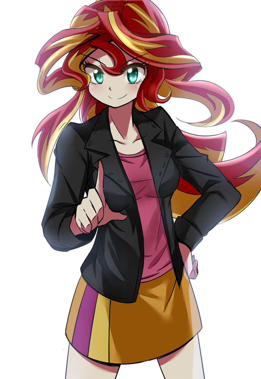 caibao highres my_little_pony my_little_pony_friendship_is_magic personification sunset_shimmer