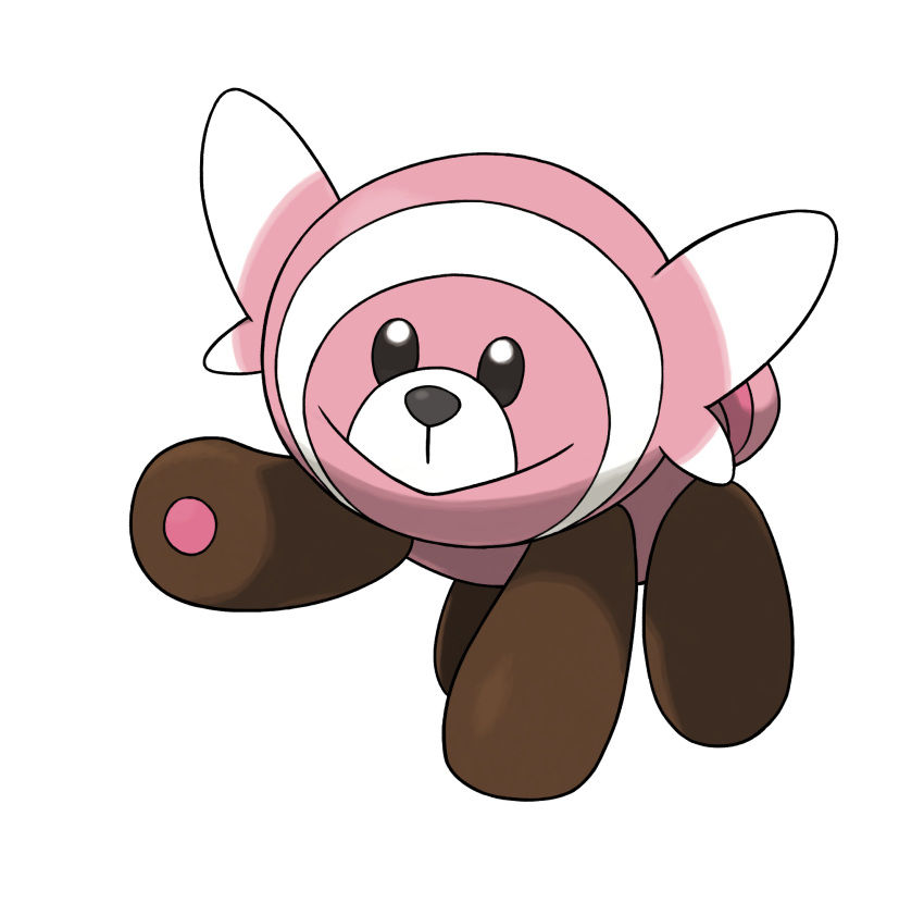 10s bear full_body highres no_humans official_art pokemon pokemon_(game) pokemon_sm simple_background solo stufful