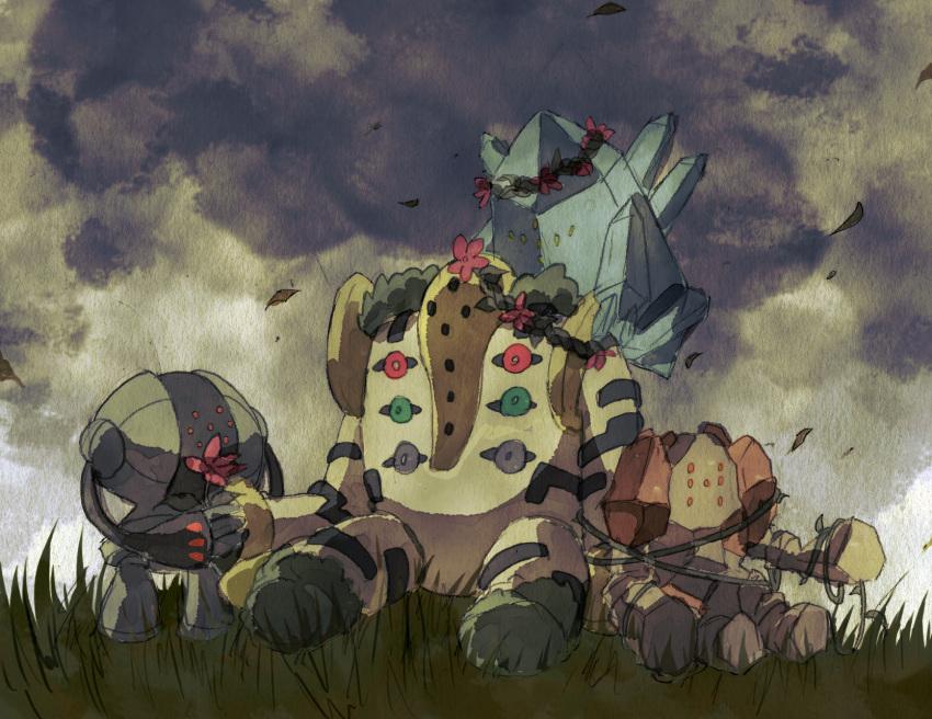 flower grass ivy monster nintendo no_humans pokemon pokemon_(game) regice regigigas regirock registeel sky