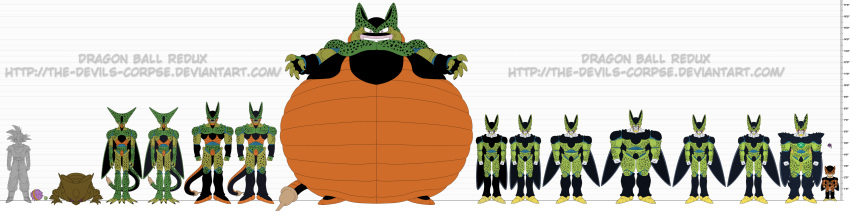 cell_(dragon_ball) dragon_ball dragonball_z perfect_cell son_gokuu the-devils-corpse_(artist)