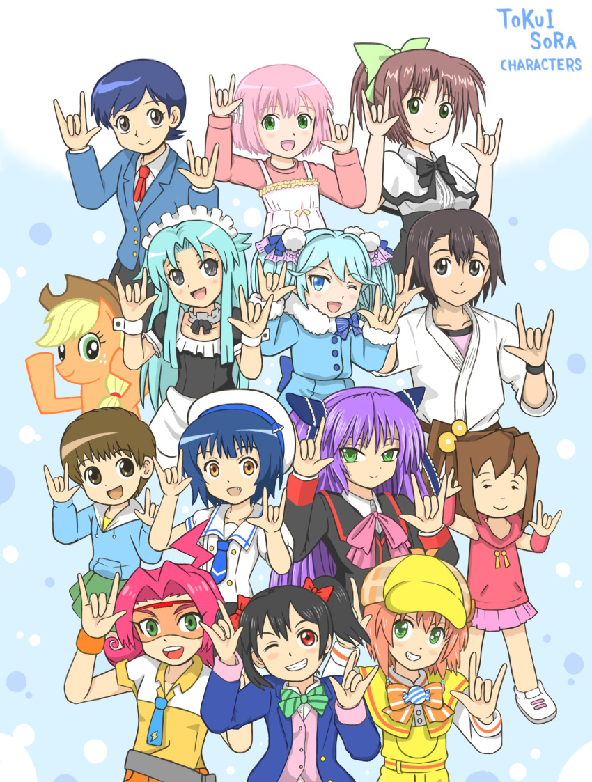 a01-isumi1013 applejack future_card_buddyfight gochuumon_wa_usagi_desu_ka? highres jouga_maya love_live! love_live!_school_idol_project my_little_pony my_little_pony_friendship_is_magic nico_nico_nii seiyuu_connection tantei_opera_milky_holmes tokui_sora yazawa_nico yuzurizaki_nero
