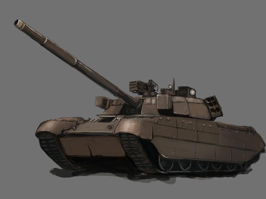 absurdres grey_background ground_vehicle highres military military_vehicle motor_vehicle original poet t-80 tank