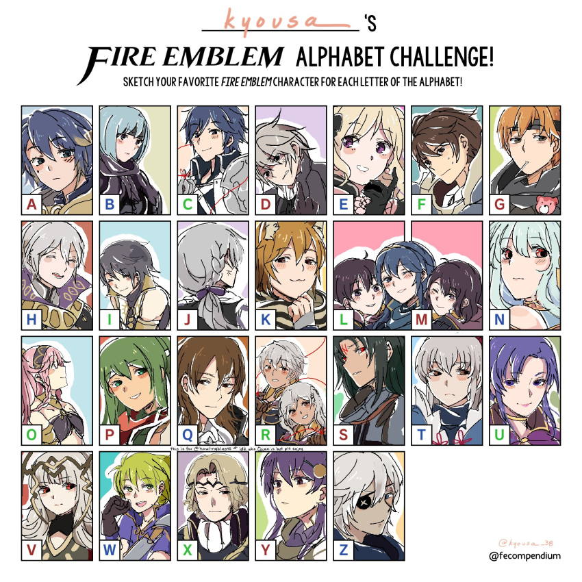 ahoge alfonse_(fire_emblem) azur_(fire_emblem) bare_shoulders black_hair blonde_hair blue_eyes blue_hair blush book braid closed_eyes dual_persona elise_(fire_emblem_if) father_and_daughter female_my_unit_(fire_emblem:_kakusei) fire_emblem fire_emblem:_kakusei fire_emblem:_monshou_no_nazo fire_emblem:_rekka_no_ken fire_emblem:_souen_no_kiseki fire_emblem_heroes fire_emblem_if frederik_(fire_emblem) gaia_(fire_emblem) gloves grey_hair henry_(fire_emblem) highres hood hooded_jacket jacket jewelry joker_(fire_emblem_if) krom kyo-usa long_hair looking_at_viewer lucina male_my_unit_(fire_emblem:_kakusei) mamkute mark_(fire_emblem) marks_(fire_emblem_if) midriff multicolored_hair multiple_boys multiple_girls my_unit_(fire_emblem:_kakusei) ninian olivia_(fire_emblem) open_mouth paola pink_hair ponytail red_eyes redhead robe short_hair simple_background smile soren takumi_(fire_emblem_if) twin_braids ursula_(fire_emblem) veronica_(fire_emblem) zero_(fire_emblem_if)