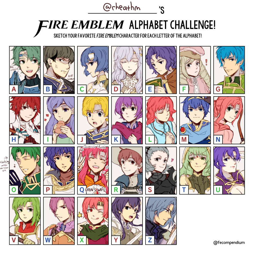 alm_(fire_emblem) armor berkut_(fire_emblem) blue_eyes blue_hair blush circlet diadora_(fire_emblem) dress fire_emblem fire_emblem:_monshou_no_nazo fire_emblem:_rekka_no_ken fire_emblem:_seisen_no_keifu fire_emblem:_souen_no_kiseki fire_emblem_echoes:_mou_hitori_no_eiyuuou fire_emblem_heroes fire_emblem_if green_eyes green_hair headband highres hinoka_(fire_emblem_if) katua lavender_hair long_hair marth multiple_boys multiple_girls open_mouth oscar purple_hair red_eyes redhead rheamii short_hair smile tiara ursula_(fire_emblem) violet_eyes