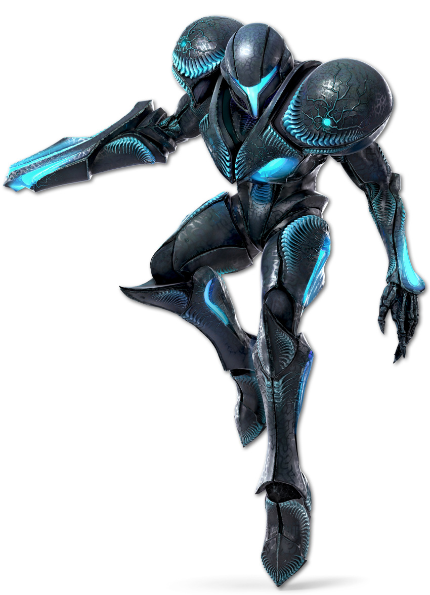 1girl armor dark_samus highres metroid metroid_prime no_humans super_smash_bros. visor_(armor)