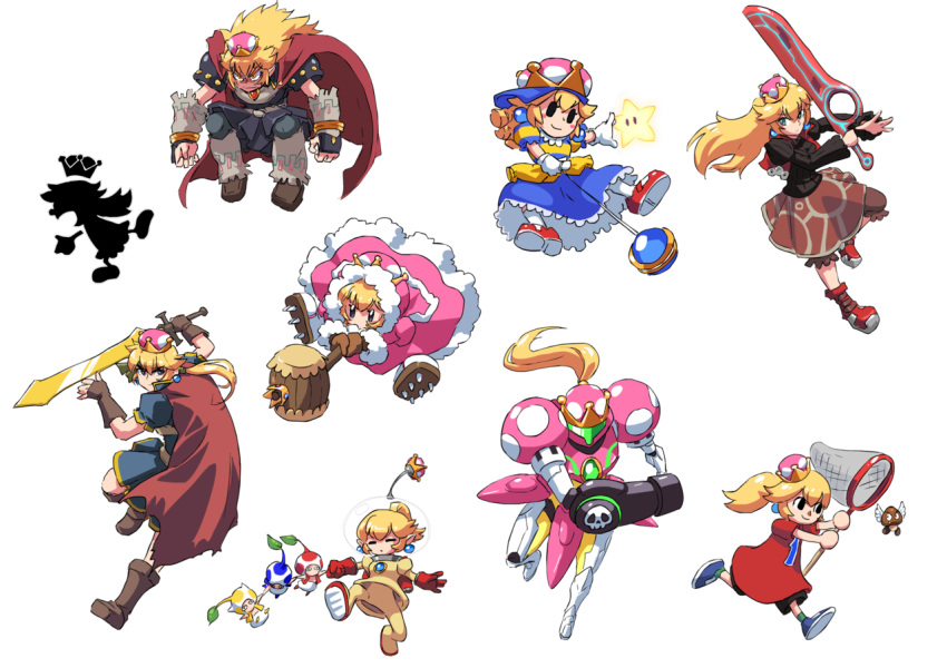 6+girls adapted_costume arm_cannon baseball_cap blonde_hair blue_eyes boots butterfly_net cape doubutsu_no_mori dress fire_emblem fur_trim game_&_watch ganondorf genderswap gloves goomba hand_net hat ice_climber ike john_su looking_at_viewer mario_(series) metroid monado mother_(game) mother_2 mr._game_&_watch multiple_girls nana_(ice_climber) ness new_super_mario_bros._u_deluxe nintendo olimar pikmin_(creature) pikmin_(series) ponytail pose princess_peach red_gloves running samus_aran serious shulk smile space_craft space_helmet super_crown sword the_legend_of_zelda transparent_background varia_suit weapon white_gloves xenoblade_(series) xenoblade_1 yo-yo