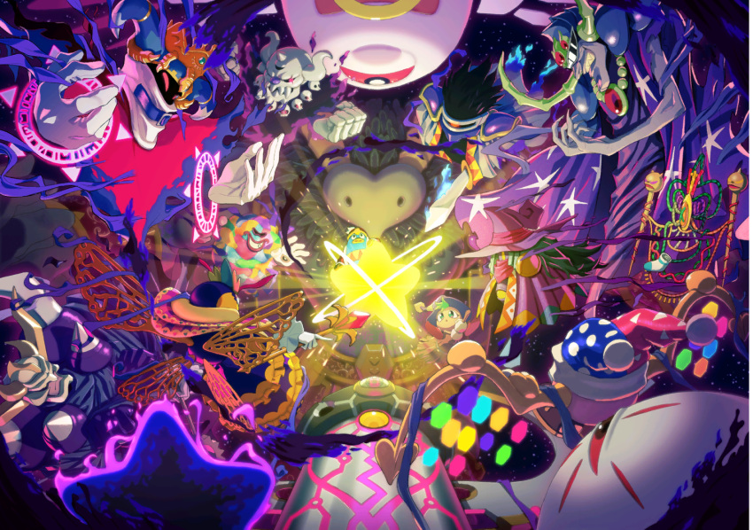 aura cloak dark_crafter dark_matter dark_mind dark_nebula drawcia evil_smile feathers floating glowing glowing_eyes gryll_(kirby) horns king_dedede kirby's_adventure kirby's_dream_land_2 kirby's_dream_land_3 kirby's_epic_yarn kirby's_return_to_dream_land kirby's_star_stacker kirby:_planet_robobot kirby:_star_allies kirby:_triple_deluxe kirby_(series) kirby_64 kirby_and_the_amazing_mirror kirby_and_the_rainbow_curse kirby_canvas_curse kirby_mass_attack kirby_squeak_squad magolor marx mask monster necrodeus nightmare_(kirby) nintendo official_art queen_sectonia robot shoulder_spikes smile space spikes star star_dream sword void_termina weapon wings yin_yarn zero_(kirby) zero_two_(kirby)