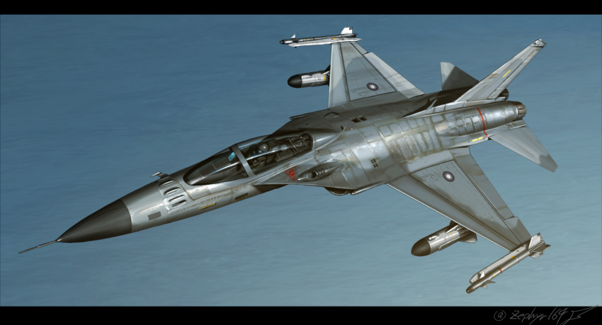 aircraft airplane f-ck-1 jet military original pilot real_life realistic roundel sky solo taiwan twitter_username zephyr164