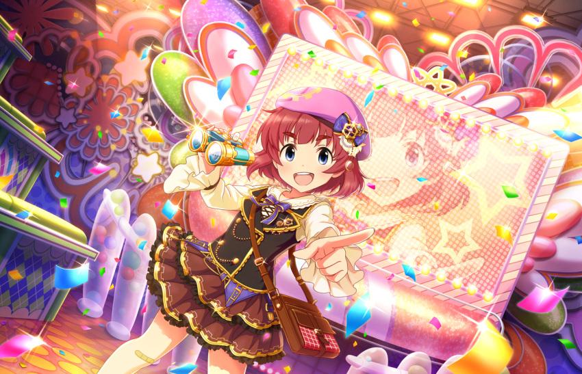 anzai_miyako blue_eyes dress idolmaster_cinderella_girls_starlight_stage redhead short_hair