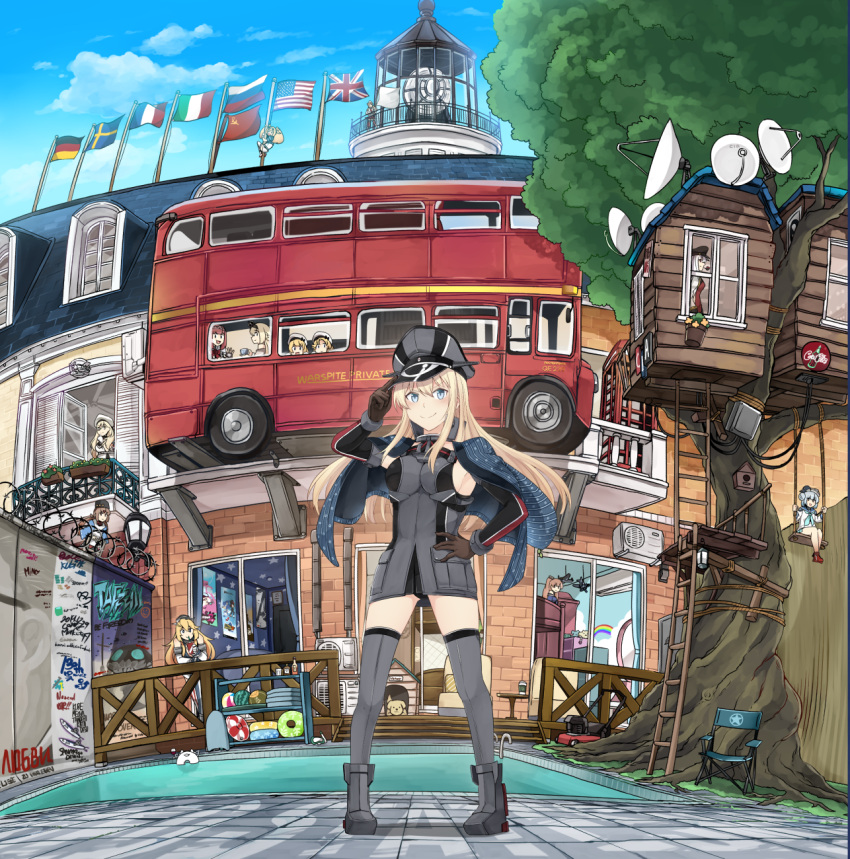 >:) >_< 6+girls :d air_conditioner america american_flag american_flag_legwear animal aqua_neckwear ark_royal_(kantai_collection) avengers avengers:_endgame bare_shoulders berlin_wall bismarck_(kantai_collection) black_hairband black_headwear blonde_hair blue_eyes blue_hair blue_sailor_collar blue_sky blush braid breasts brown_gloves brown_hair building bus coca-cola commentary_request crown day detached_sleeves dixie_cup_hat dog dress drinking e16a_zuiun enemy_lifebuoy_(kantai_collection) england fish flag flower france french_braid french_flag gambier_bay_(kantai_collection) gangut_(kantai_collection) german_flag germany gloves grey_legwear ground_vehicle hair_between_eyes hair_bun hairband hammer_and_sickle hat highres ido_(teketeke) inkling innertube iowa_(kantai_collection) italian_flag italy janus_(kantai_collection) jervis_(kantai_collection) johnston_(kantai_collection) kantai_collection lantern large_breasts lawnmower light_brown_hair lighthouse littorio_(kantai_collection) long_hair long_sleeves low_twintails military military_hat military_uniform mini_crown motor_vehicle multiple_girls neck_ribbon neckerchief off-shoulder_dress off_shoulder open_mouth panties pantyshot papakha peaked_cap phone_booth pipe_in_mouth pool red_flower red_ribbon red_rose redhead ribbon richelieu_(kantai_collection) rose russia russian_flag sailor_collar sailor_hat samuel_b._roberts_(kantai_collection) satellite_dish saury school_uniform serafuku shadow shadow_the_hedgehog shinkaisei-kan short_hair sideboob sky smile sonic sonic_adventure_2 sonic_the_hedgehog soviet_flag soviet_union splatoon_(series) splatoon_2 standing sweden swedish_flag tashkent_(kantai_collection) the_legend_of_zelda the_legend_of_zelda:_breath_of_the_wild thigh-highs tiara tree treehouse twintails underwear uniform union_jack united_kingdom v-shaped_eyebrows wall warspite_(kantai_collection) white_dress white_flag white_hair white_headwear wo-class_aircraft_carrier