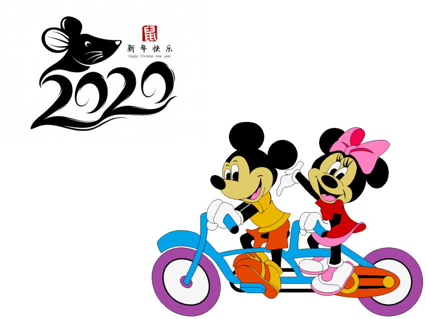 dimple_star_transport disney mickey_mouse minnie_mouse no_humans tagme tandem_bicycle year_of_the_rat