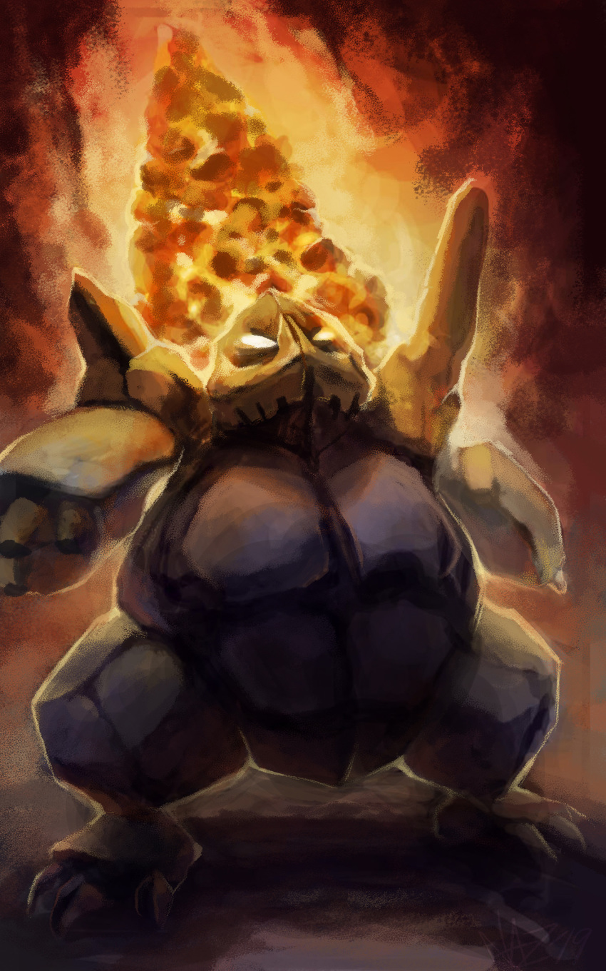 absurdres coalossal commentary creature english_commentary full_body gen_8_pokemon highres naz_(mamiina) no_humans pokemon pokemon_(creature) solo standing