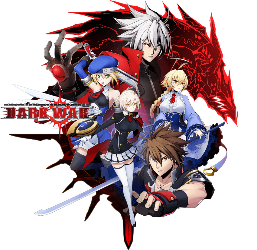 2boys 3girls ahoge armor armpits bangs bare_shoulders beret black_legwear blazblue blazblue:_bloodedge_experience blazblue_alternative:_dark_war blonde_hair bolverk braid braided_ponytail breasts brown_eyes brown_hair capelet ciel_sulfur collared_shirt detached_sleeves devoured_by_darkness dress es_(xblaze) eyebrows_visible_through_hair frills full_body gloves green_eyes gun hair_between_eyes handgun hat heterochromia huge_ahoge jacket key_visual large_breasts logo long_hair long_sleeves looking_at_viewer medium_breasts military military_hat military_uniform mori_toshimichi multiple_boys multiple_girls naoto_kurogane necktie noel_vermillion official_art open_mouth orange_eyes pauldrons ponytail ragna_the_bloodedge red_capelet red_eyes red_neckwear serious shirt short_hair shoulder_armor silver_hair single_braid skirt small_breasts spiky_hair thigh-highs third-party_source transparent_background uniform weapon white_hair white_legwear xblaze yellow_eyes