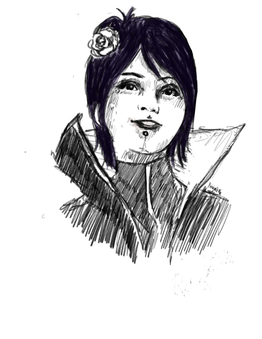 absurdres face girl highres konan naruto naruto_(series) ninja perajurit96 sketch