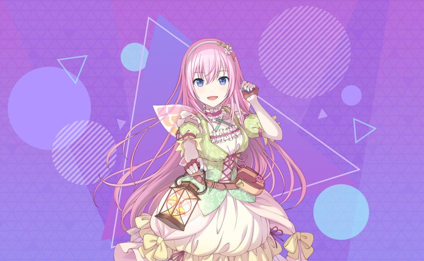blue_eyes blush dress long_hair megurine_luka pink_hair project_sekai smile