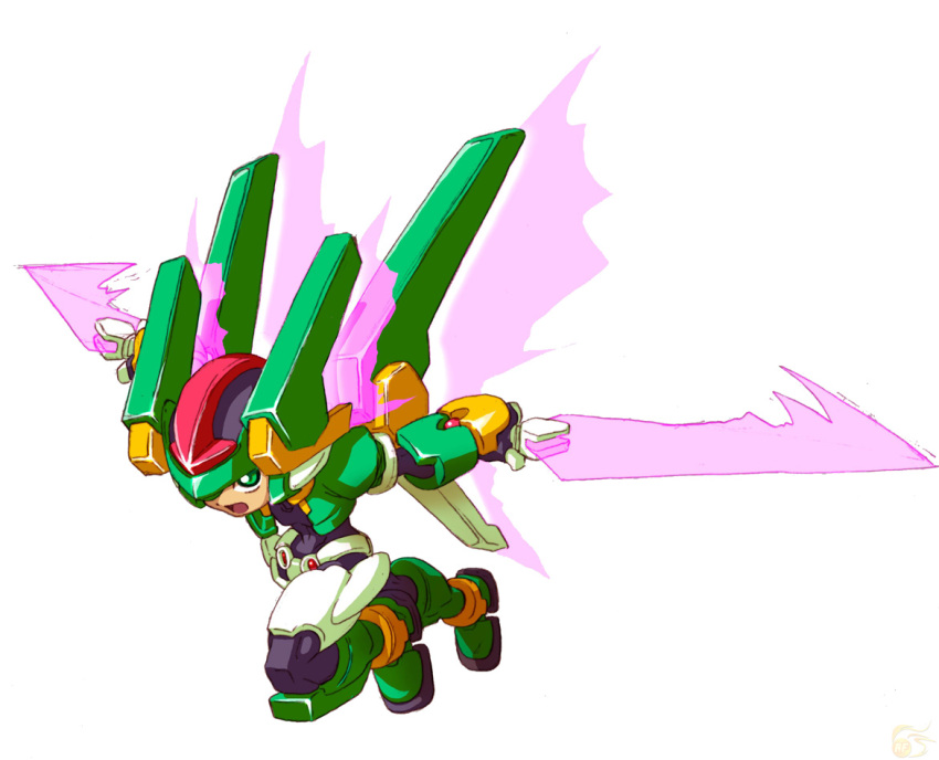 harpuia model_hx official_art rockman rockman_zx sword vent weapon