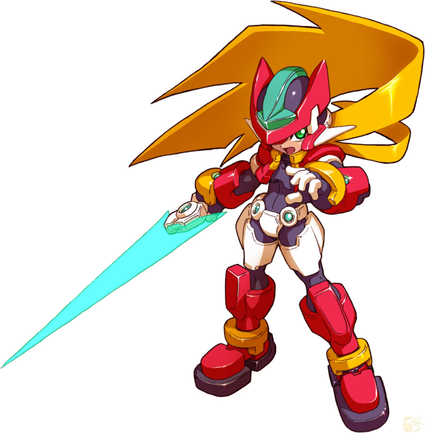 model_zx official_art rockman rockman_zx sword vent weapon zero zero_(rockman)