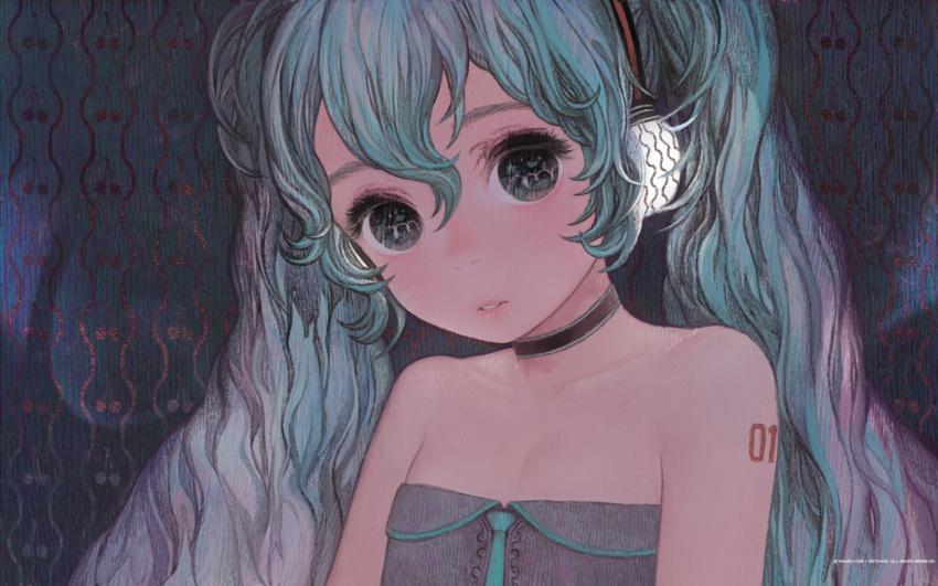 hatsune_miku headphones matayoshi vocaloid wallpaper