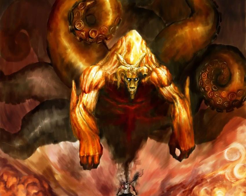 dark_skin hachibi_no_kyogyu jinchuuriki killer_bee male monster ox scarf tagme tentacles weapon